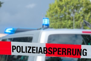 Polizeieinsatz Polizei Absperrung Tatort