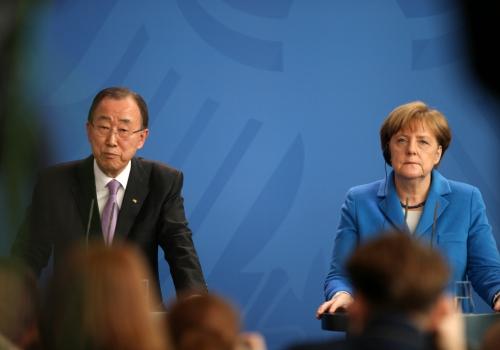 Ban Ki-moon und Angela Merkel am 08.03.2016, über dts Nachrichtenagentur