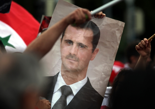 Bild von Baschar al-Assad auf einer Syrien-Demonstration, über dts Nachrichtenagentur
