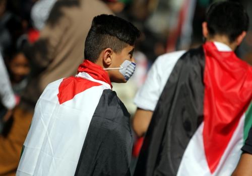 Arabische Jugendliche bei Demonstration in Berlin, über dts Nachrichtenagentur
