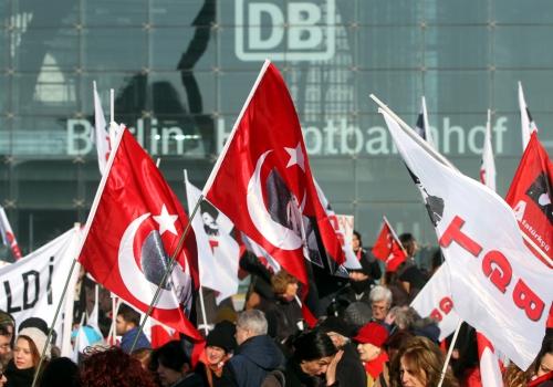 Proteste gegen türkische Regierung am 04.02.2014 in Berlin, über dts Nachrichtenagentur