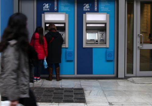 Geldautomat in Athen, über dts Nachrichtenagentur