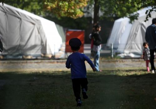Flüchtlinge in einer