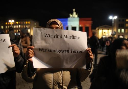 Muslime demonstrieren am 14.11.2015 gegen Terror, über dts Nachrichtenagentur