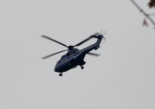 Bundespolizei-Hubschrauber mit Angela Merkel an Bord, über dts Nachrichtenagentur