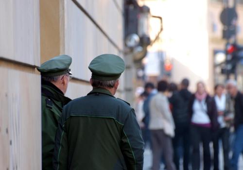 Deutsche Polizisten vor der britischen Botschaft in Berlin, über dts Nachrichtenagentur