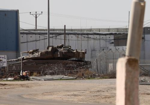 Grenze zum Gazastreifen, über dts Nachrichtenagentur
