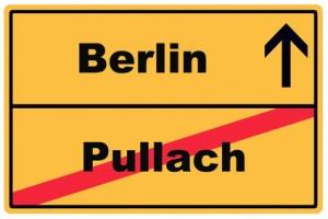 Schild Berlin Pullach