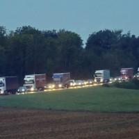 A8 Oberelchingen LKW Brand