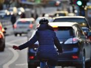Radfahrer Verkehr