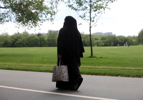 Frau mit Burka, über dts Nachrichtenagentur