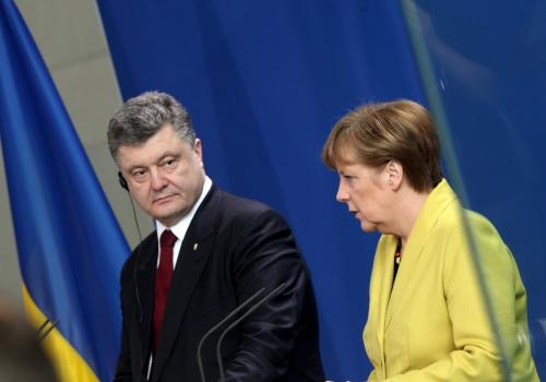 Petro Poroschenko und Angela Merkel, über dts Nachrichtenagentur