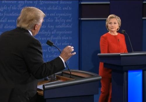 TV-Duell Clinton vs. Trump am 26.09.2016, über dts Nachrichtenagentur