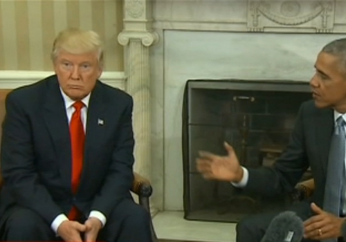 Obama und Trump am 10.11.16, über dts Nachrichtenagentur