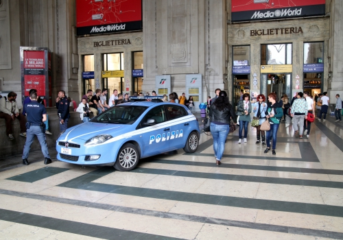 Polizei am Bahnhof von  Mailand, über dts Nachrichtenagentur