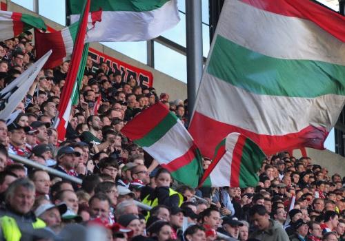 Fans des FC Augsburg, über dts Nachrichtenagentur