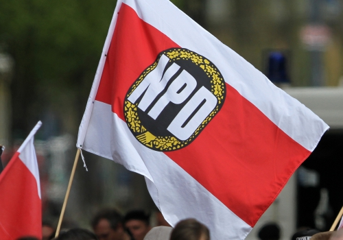 NPD-Fahne, über dts Nachrichtenagentur