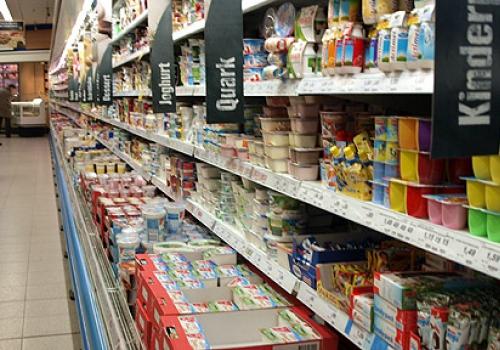 Einkaufsregal in einem Supermarkt, über dts Nachrichtenagentur