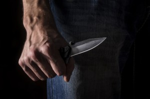 Ueberfall Messer