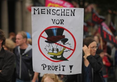 Demonstration gegen TTIP und Ceta, über dts Nachrichtenagentur