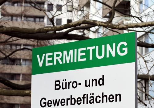Vermietungs-Schild, über dts Nachrichtenagentur