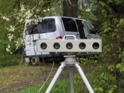 Der Messwagen und mit dem Sensorbalken Foto: Pöppel
