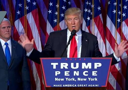 Trump nach Wahlsieg am 9.11.2016, über dts Nachrichtenagentur