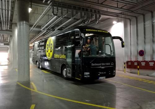 Bus von Borussia Dortmund, über dts Nachrichtenagentur