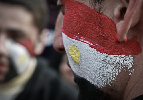Demonstranten in Ägypten, Ahmad Hammoud, Lizenztext: dts-news.de/cc-by