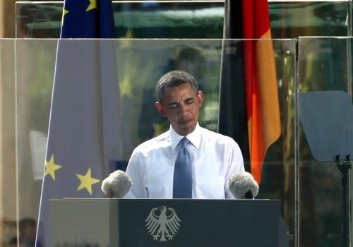 Barack Obama am 19.06.2013 vor dem Brandenburger Tor in Berlin, über dts Nachrichtenagentur