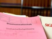 Staatsanwaltschaft Strafakte mit Gesetzbuch