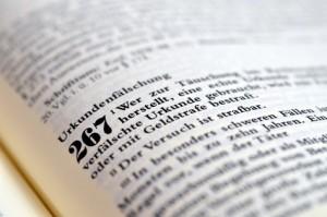 Urkundenfälschung im Strafgesetzbuch