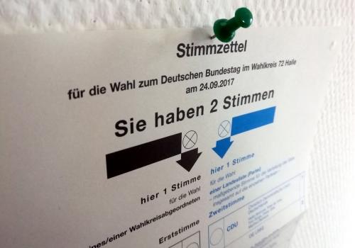 Stimmzettel für Bundestagswahl am 24.09.2017, über dts Nachrichtenagentur