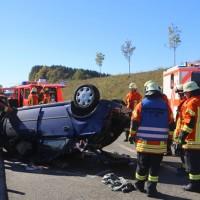 2017-10-14_A96_Leutkirch_Kisslegg_Unfall_Feuerwehr_Rettungshurbschrauber_Poeppel_0004