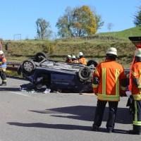 2017-10-14_A96_Leutkirch_Kisslegg_Unfall_Feuerwehr_Rettungshurbschrauber_Poeppel_0012