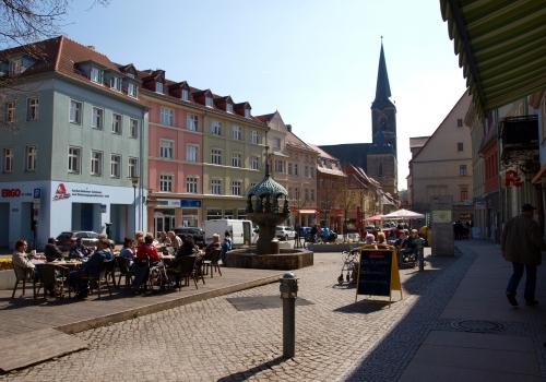 Marktplatz einer Kleinstadt (Aschersleben), über dts Nachrichtenagentur