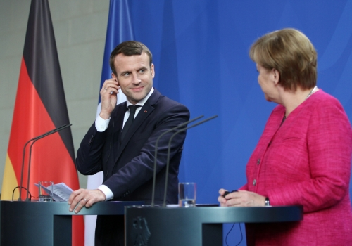 Emmanuel Macron und Angela Merkel am 15.05.2017, über dts Nachrichtenagentur