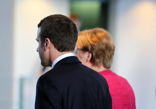 Emmanuel Macron und Angela Merkel, über dts Nachrichtenagentur