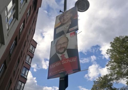 Wahlplakate von SPD und CDU, über dts Nachrichtenagentur