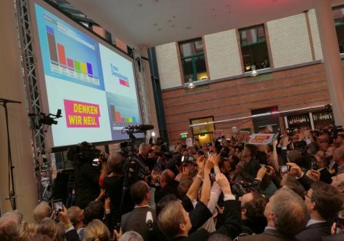 FDP-Wahlparty am 24.09.2017, über dts Nachrichtenagentur