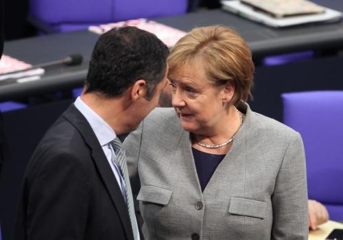 Cem Özdemir und Angela Merkel, über dts Nachrichtenagentur