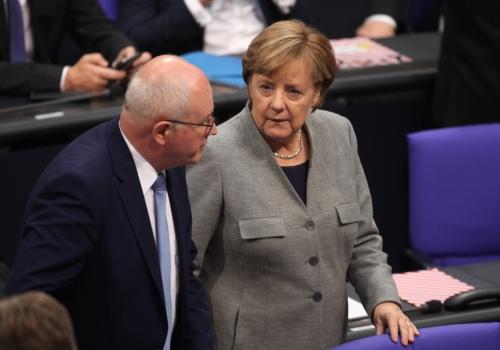 Volker Kauder und Angela Merkel, über dts Nachrichtenagentur