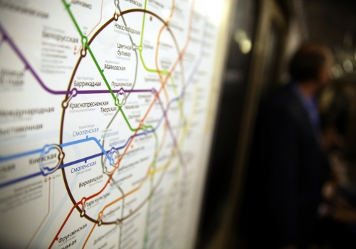 Netzplan in der Metro von Moskau, über dts Nachrichtenagentur