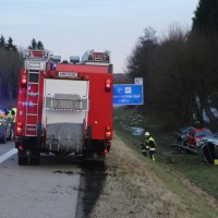 2018-0124_A96_Erkheim_Stetten_UNfall_Autotransporter_Feuerwehr_Poeppel_0009