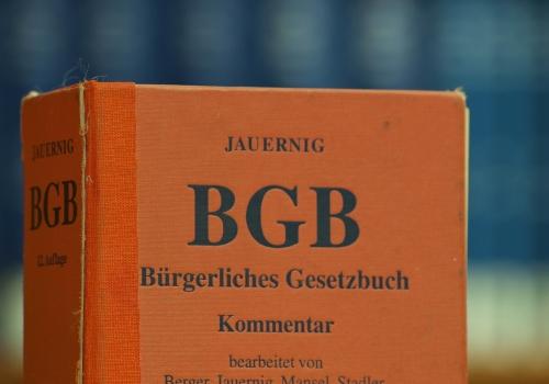 Ausgaben des BGB in einer Bibliothek, über dts Nachrichtenagentur