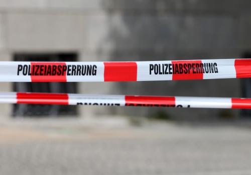 Polizeiabsperrung, über dts Nachrichtenagentur
