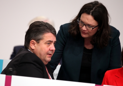 Sigmar Gabriel und Andrea Nahles, über dts Nachrichtenagentur