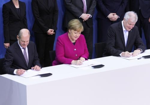 Koalitionsvertrag wird unterschrieben am 12.03.2018, über dts Nachrichtenagentur