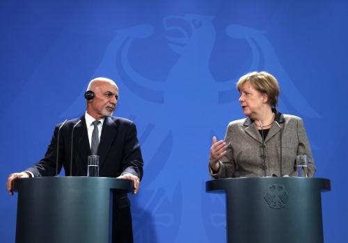 Ashraf Ghani und Angela Merkel, über dts Nachrichtenagentur