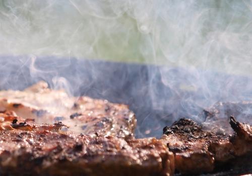 Steak auf einem Grill, über dts Nachrichtenagentur